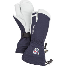 Hestra Army Leather Heli Ski 3 Finger Gloves Navy